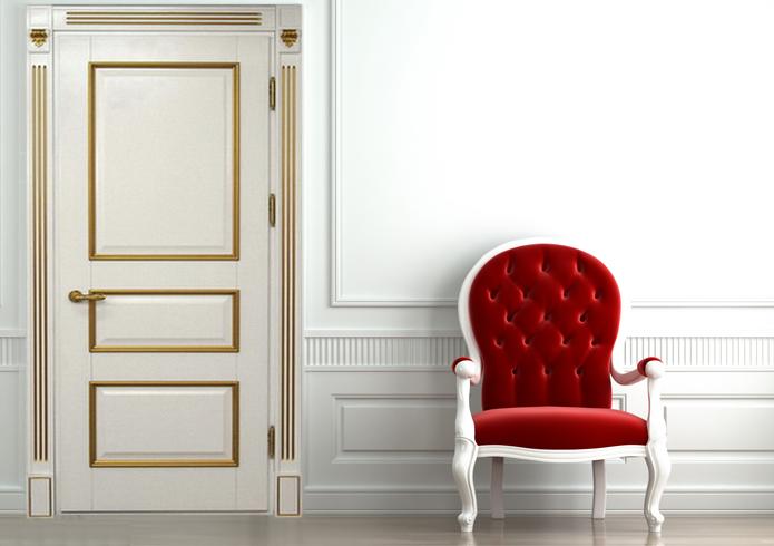 Белые двери и двери с косичкой